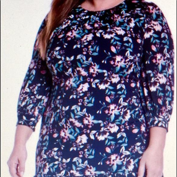 Eliza J Dresses & Skirts - Eliza J Contrast Floral flounce hem Shift 24 W